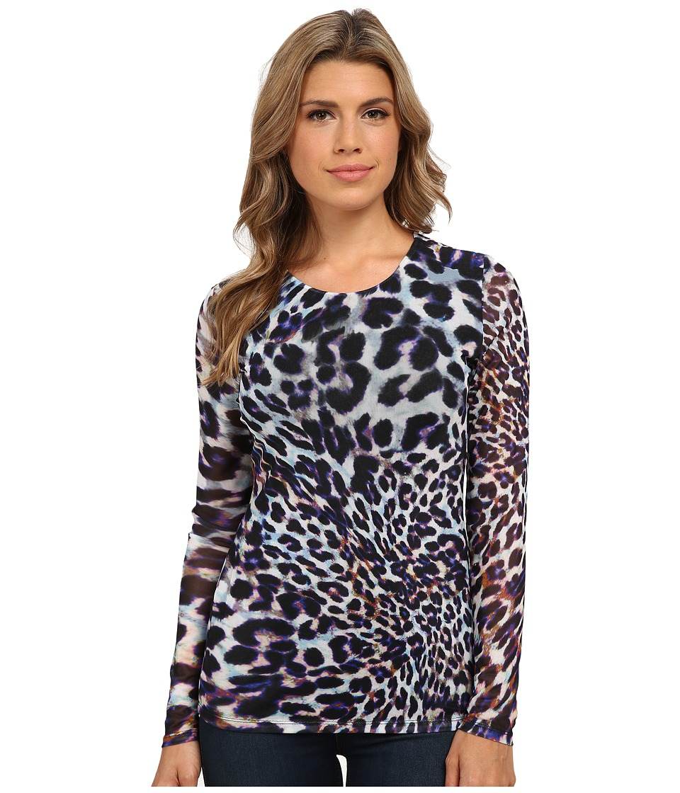 CATHERINE Catherine Malandrino - Antonio Top (Cheetah) Women's Long Sleeve Pullover
