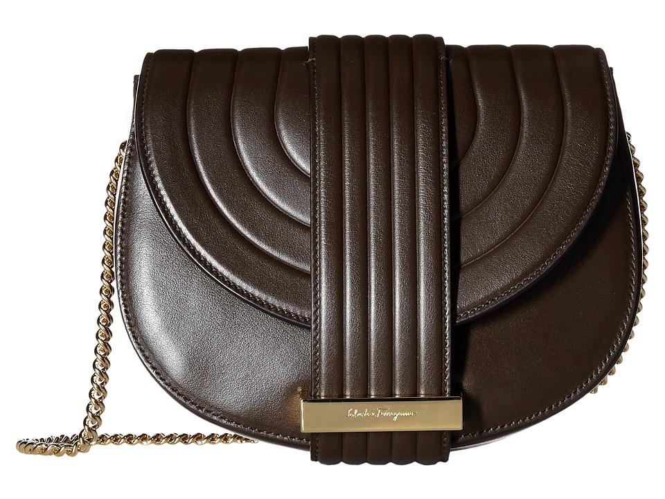 Salvatore Ferragamo - Rosett (Cacao) Cross Body Handbags