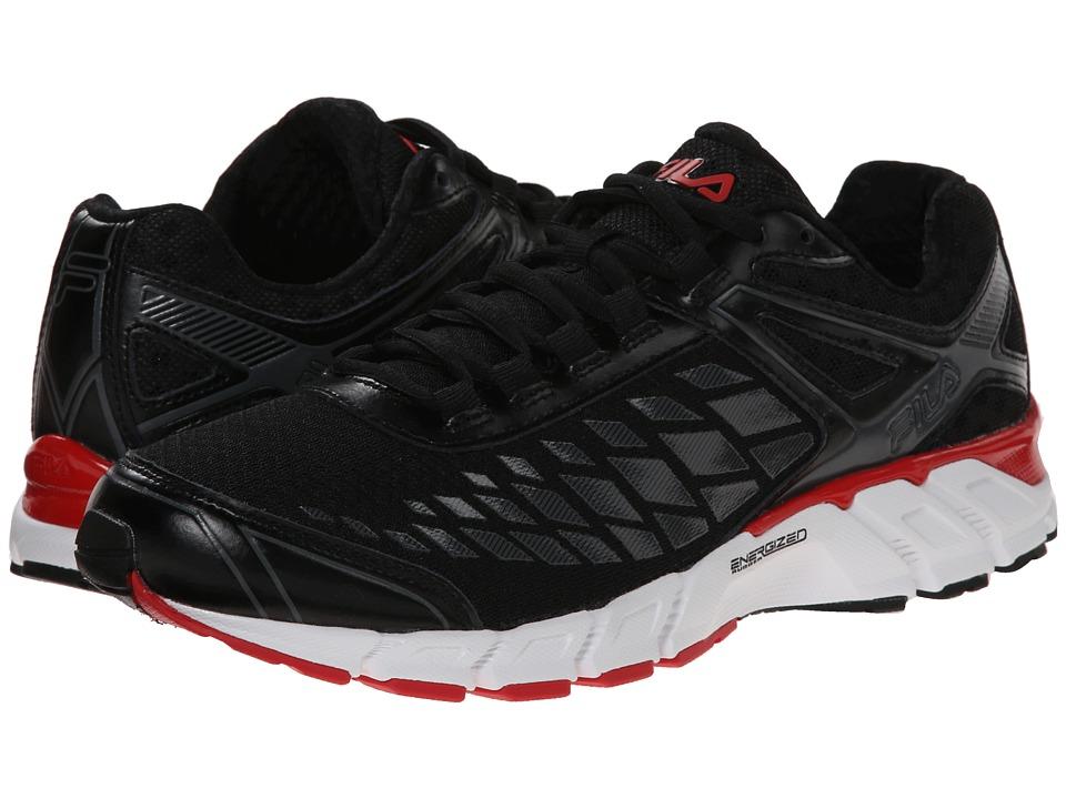 Fila - Dashtech Energized (Black/Dark Shadow/Fila Red) Men's Shoes