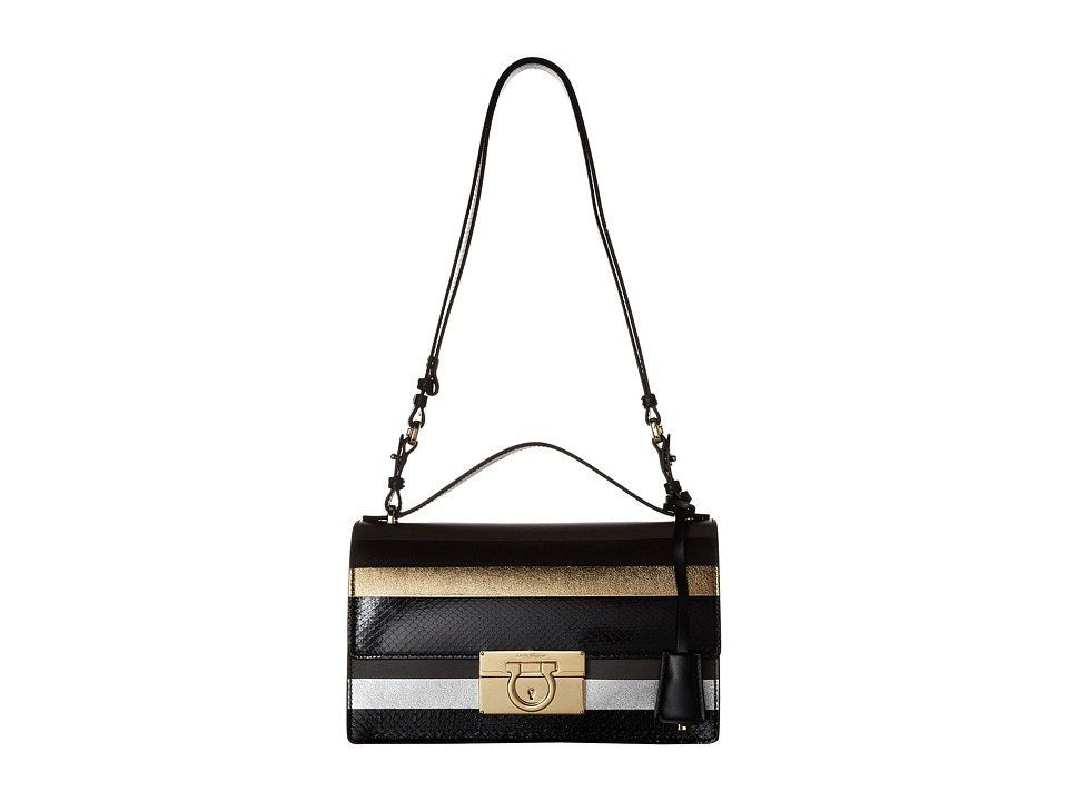 Salvatore Ferragamo - Aileen (Nero) Shoulder Handbags