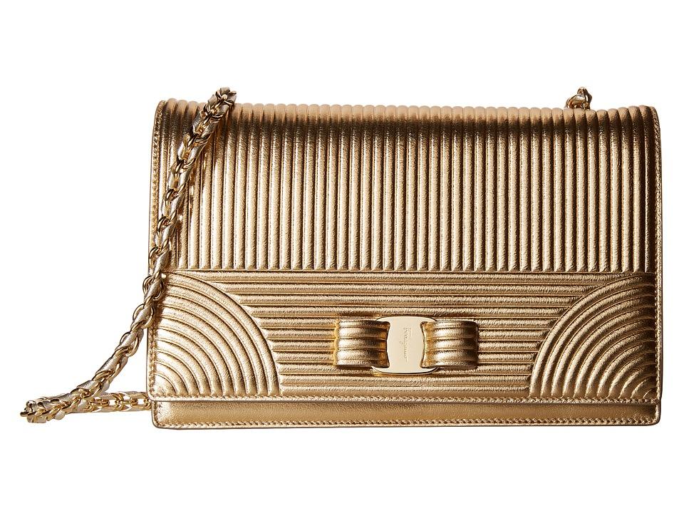Salvatore Ferragamo - Ginny (Oro) Handbags