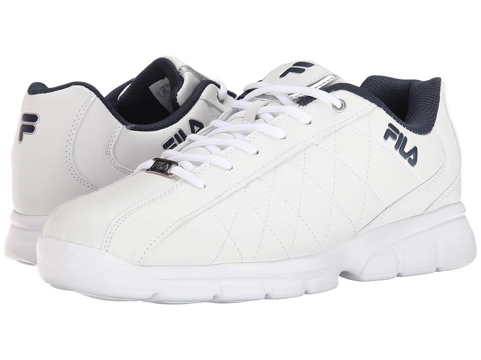 Fila - Fulcrum 3 (White/White/Fila Navy) Men's Shoes