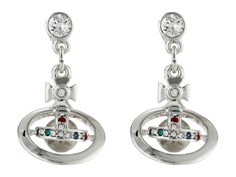 Vivienne Westwood - New Petite Orb Earrings (Silver) Earring