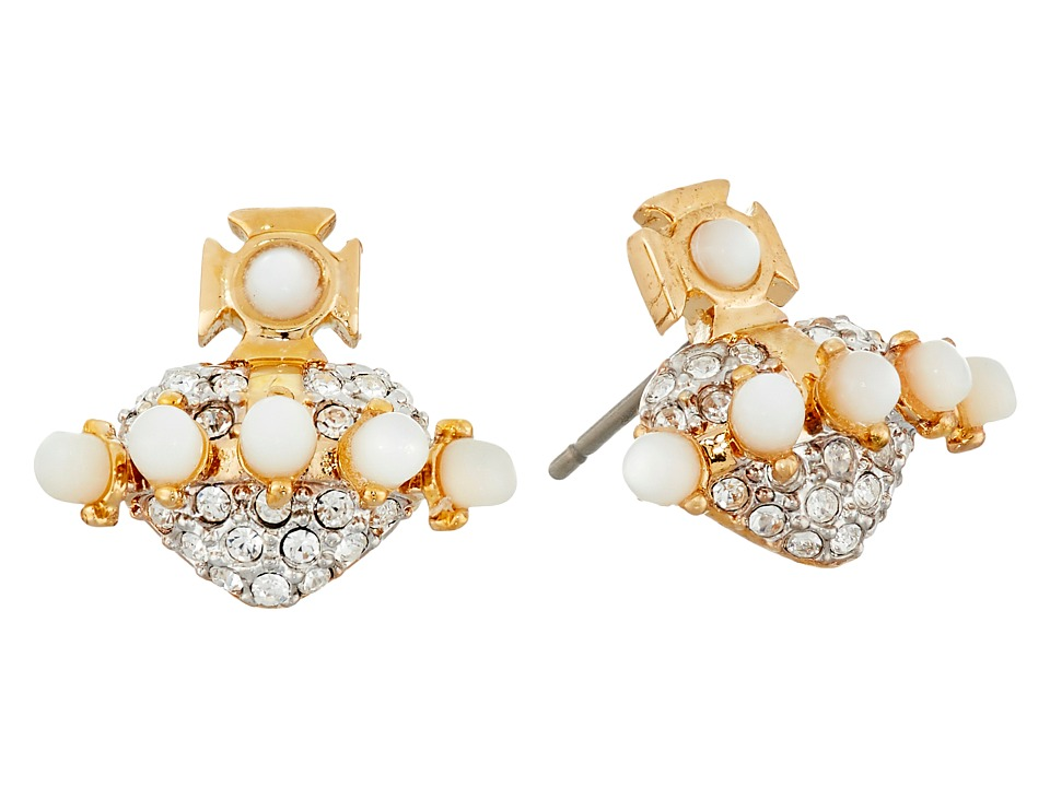 Vivienne Westwood - Oona Bas Relief Earrings (White Mop/Crystal) Earring