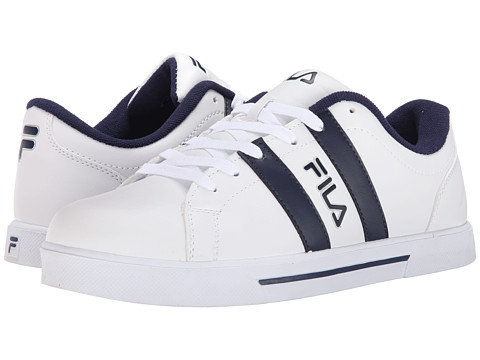 Fila - Boca 6 (White/Fila Navy/Metallic Silver) Men's Shoes