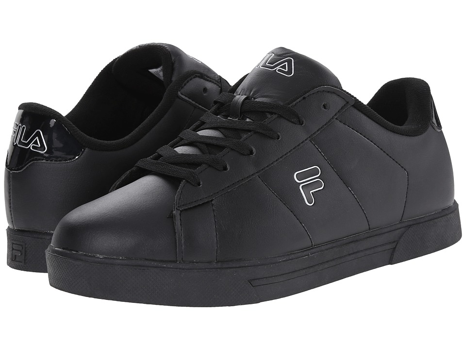 Fila - Benefactor (Black/Black/Metallic Silver) Men's Shoes