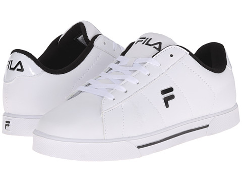 Fila - Benefactor (White/Black/Metallic Silver) Men's Shoes