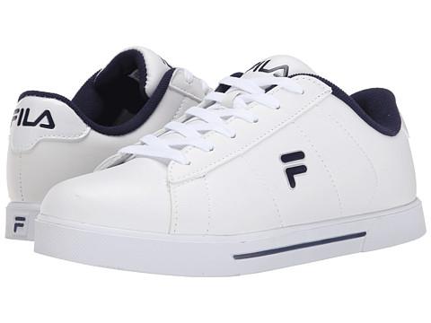 Fila - Benefactor (White/Fila Navy/Metallic Silver) Men