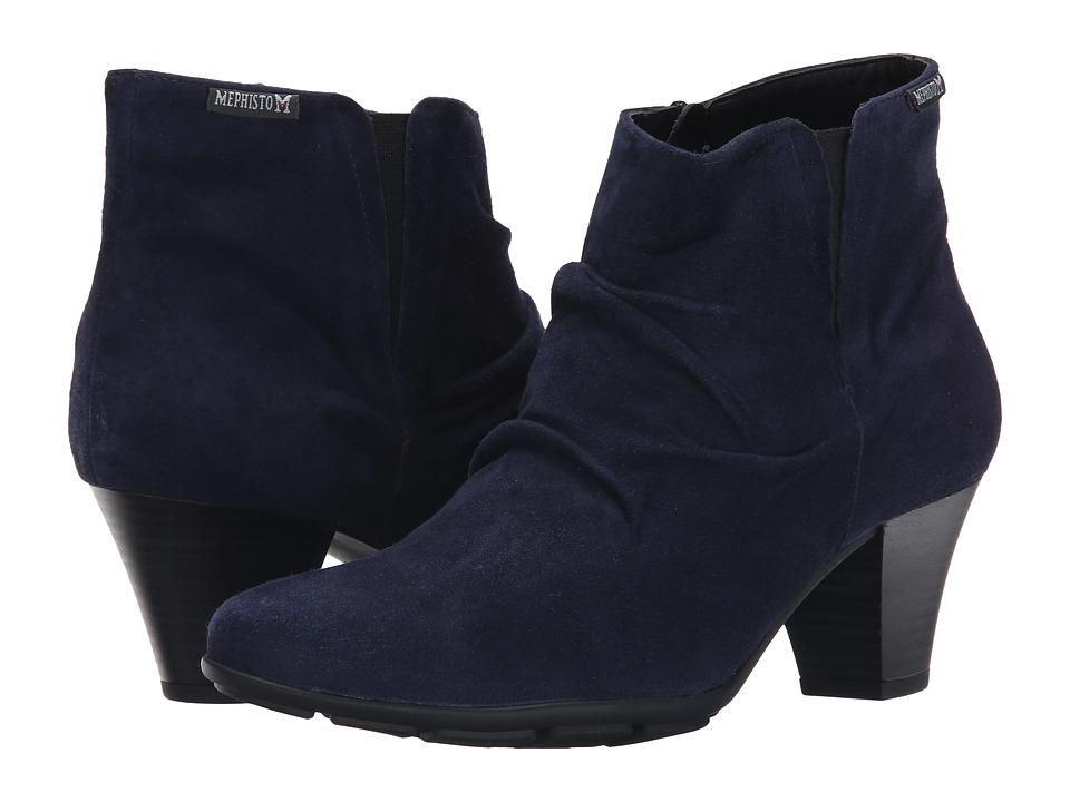 Mephisto - Belma (Indigo Velcalf Premium) Women's Boots