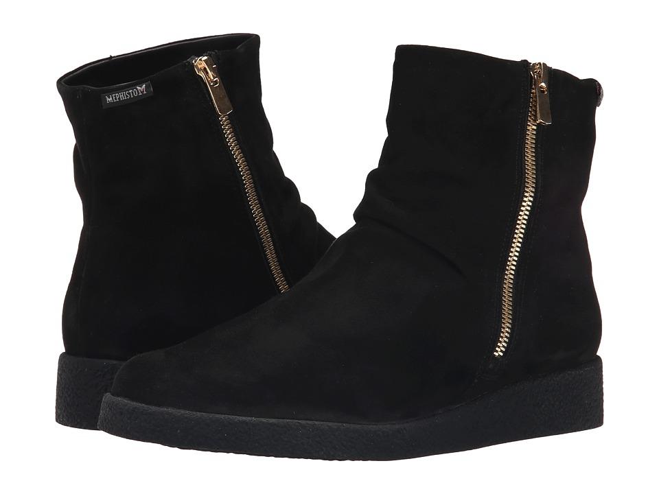 Mephisto - Cassandra (Black Velcalf Premium) Women's Boots