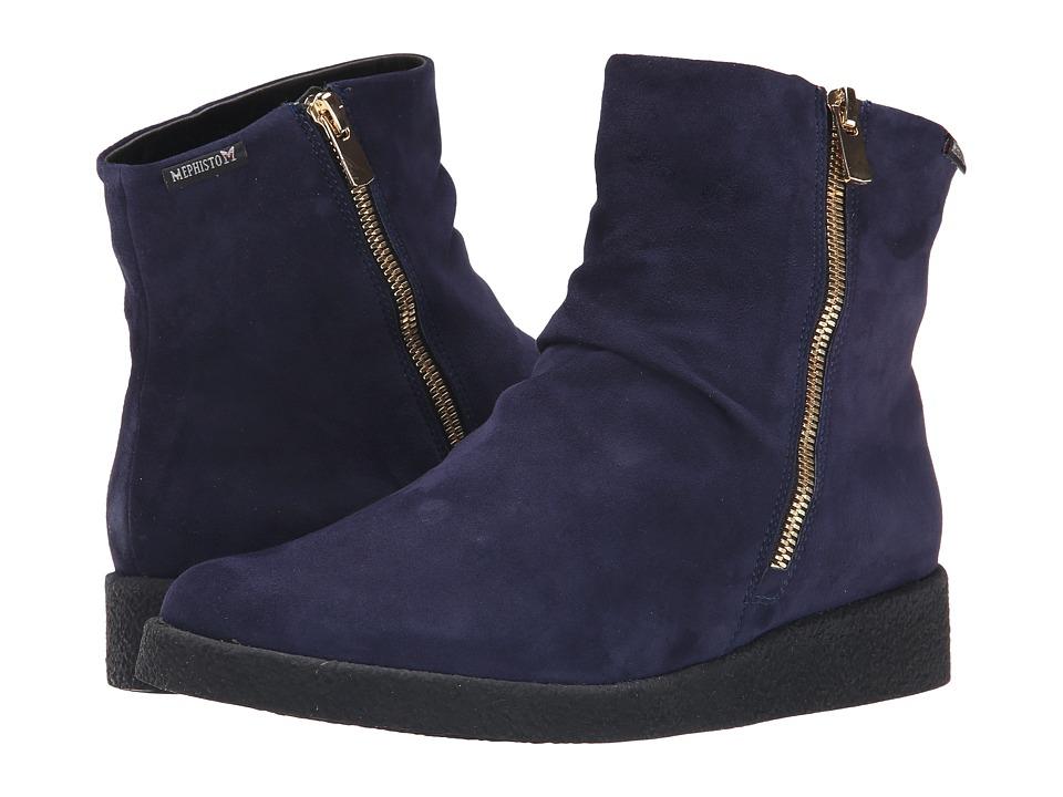 Mephisto - Cassandra (Indigo Velcalf Premium) Women's Boots
