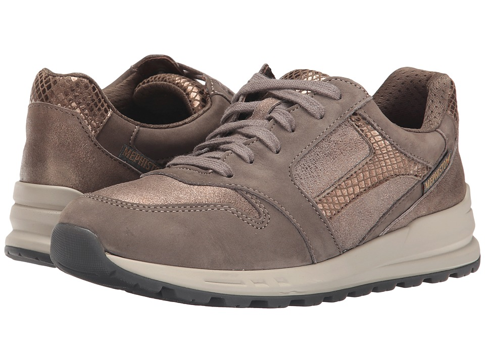 Mephisto Cross (Pewter Bucksoft/Dark Taupe/Bronze) Women