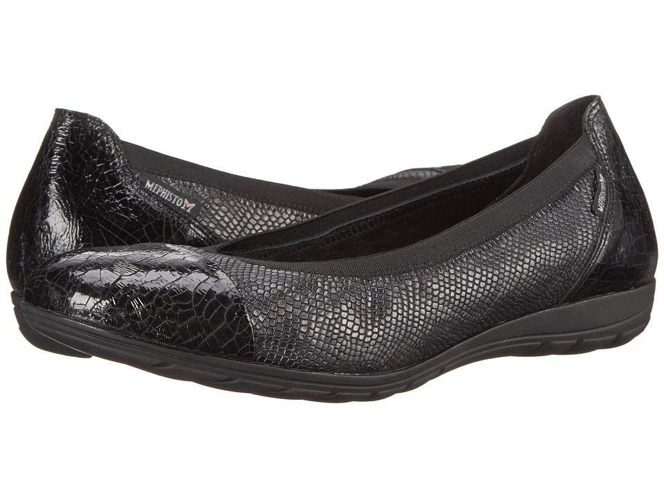 Mephisto Elettra (Black Ice/Dark Grey Python) Women