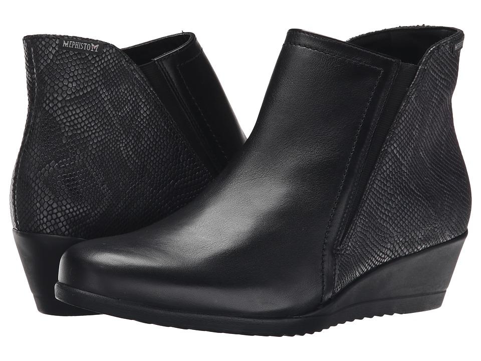 Mephisto - Gabria (Black Cigale/Dark Grey Python) Women's Boots