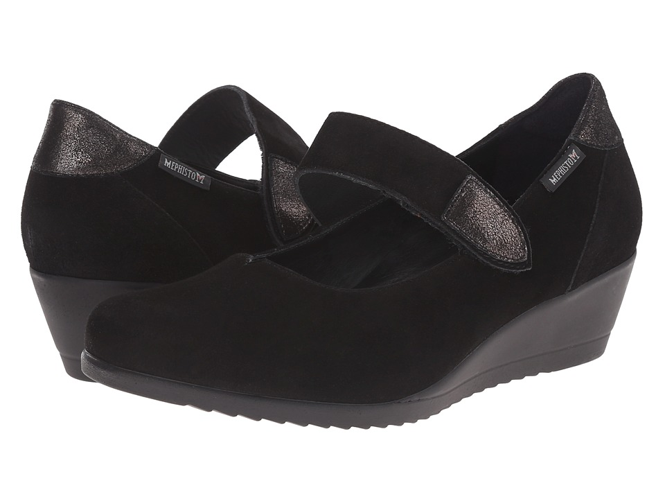 Mephisto - Giordana (Black Velcalf Premium/Dark Grey Podium) Women's Shoes