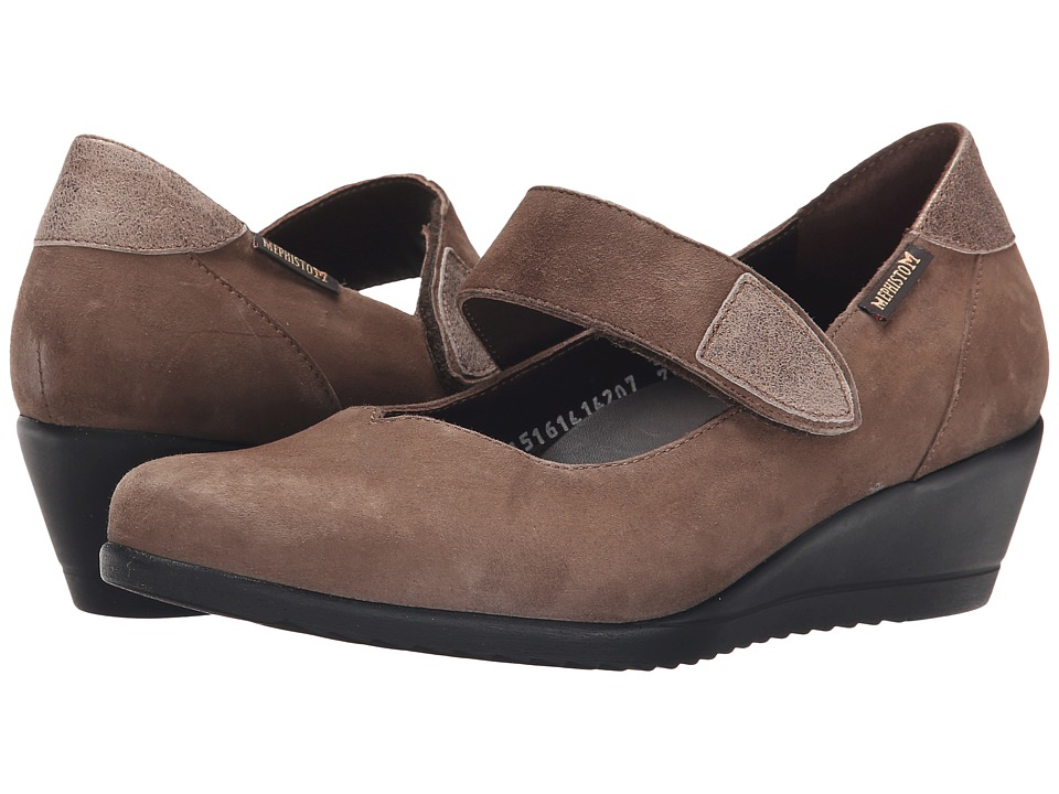 Mephisto - Giordana (Pewter Velcalf Premium/Dark Taupe) Women's Shoes