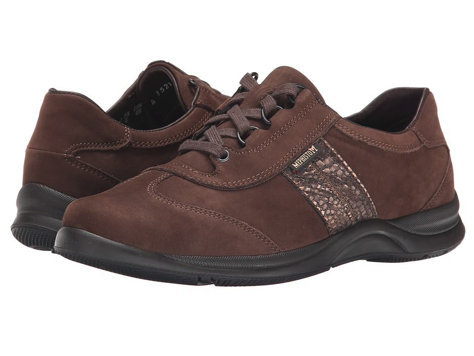 Mephisto - Laser (Chestnut Nubuck/Pewter Raptor) Women's Lace up casual Shoes