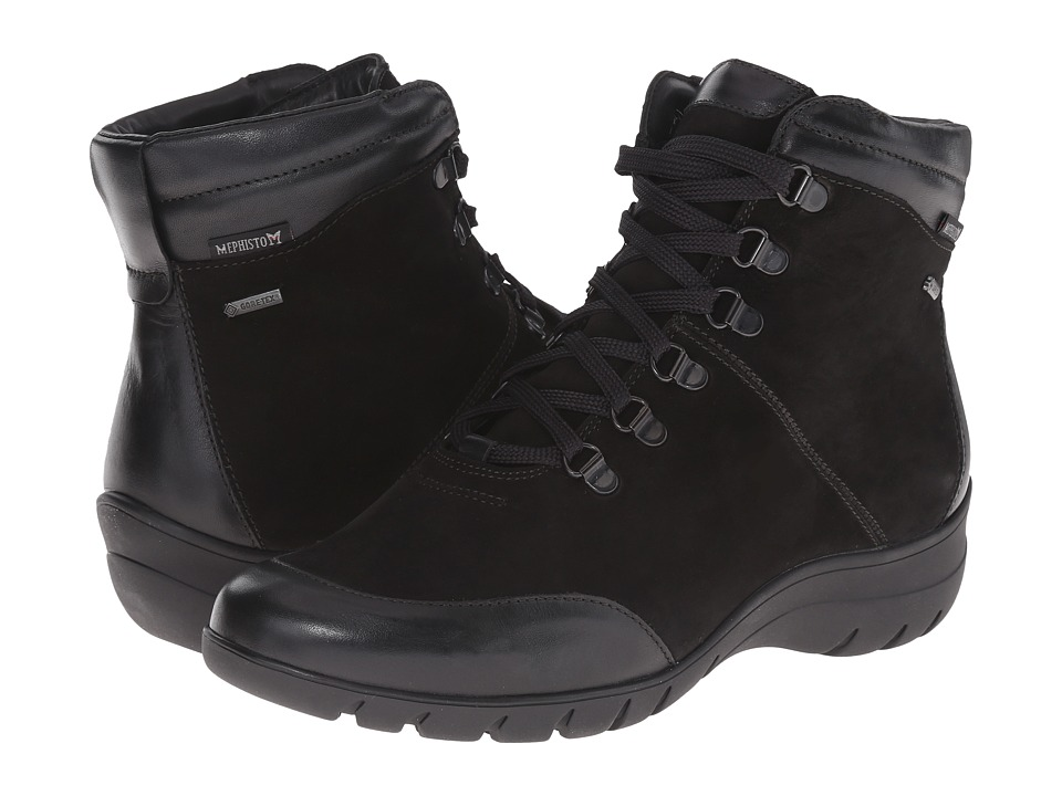 Mephisto - Louane GT (Black Cigalia/Nubuck) Women's Lace-up Boots