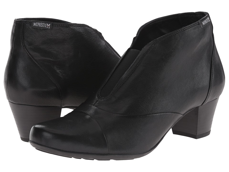Mephisto - Maddie (Black Nappa) Women's 1-2 inch heel Shoes