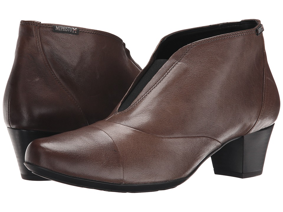 Mephisto - Maddie (Dark Taupe Nappa) Women's 1-2 inch heel Shoes