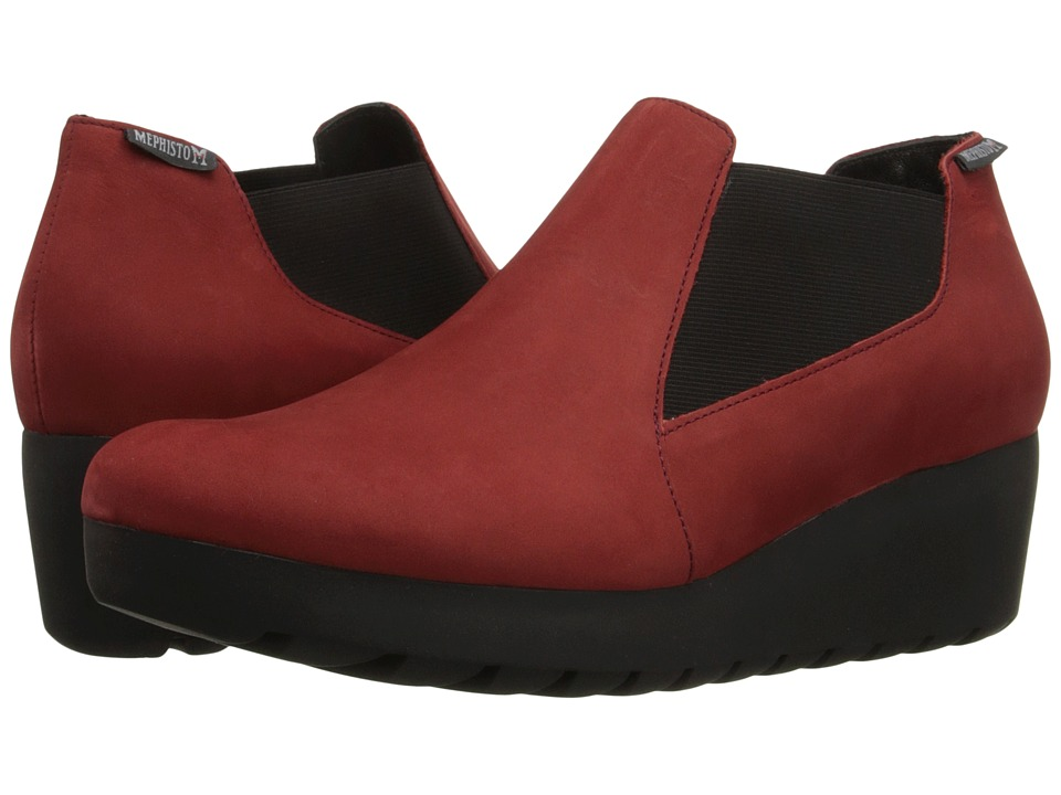 Mephisto - Tosca (Red Bucksoft) Women's Wedge Shoes