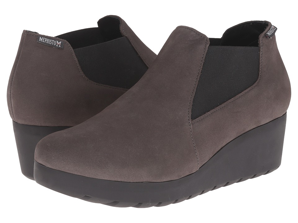 Mephisto - Tosca (Grey Bucksoft) Women's Wedge Shoes