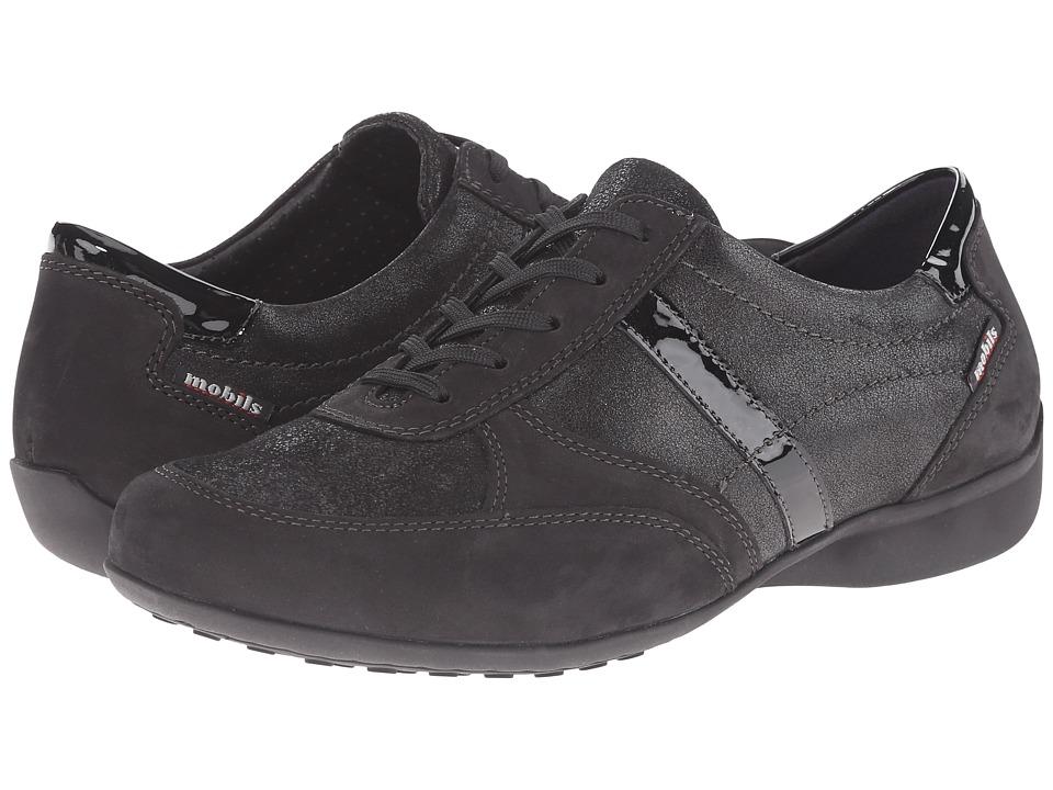Mephisto Fedra Black Bucksoft Bronze Ceylan Titanium Perl Calfskin Womens  Lace up casual Shoes