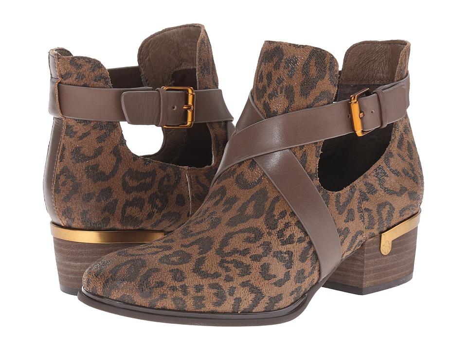 Isola - Davan (Desert Tan Leopard Hair Foil) Women's Boots