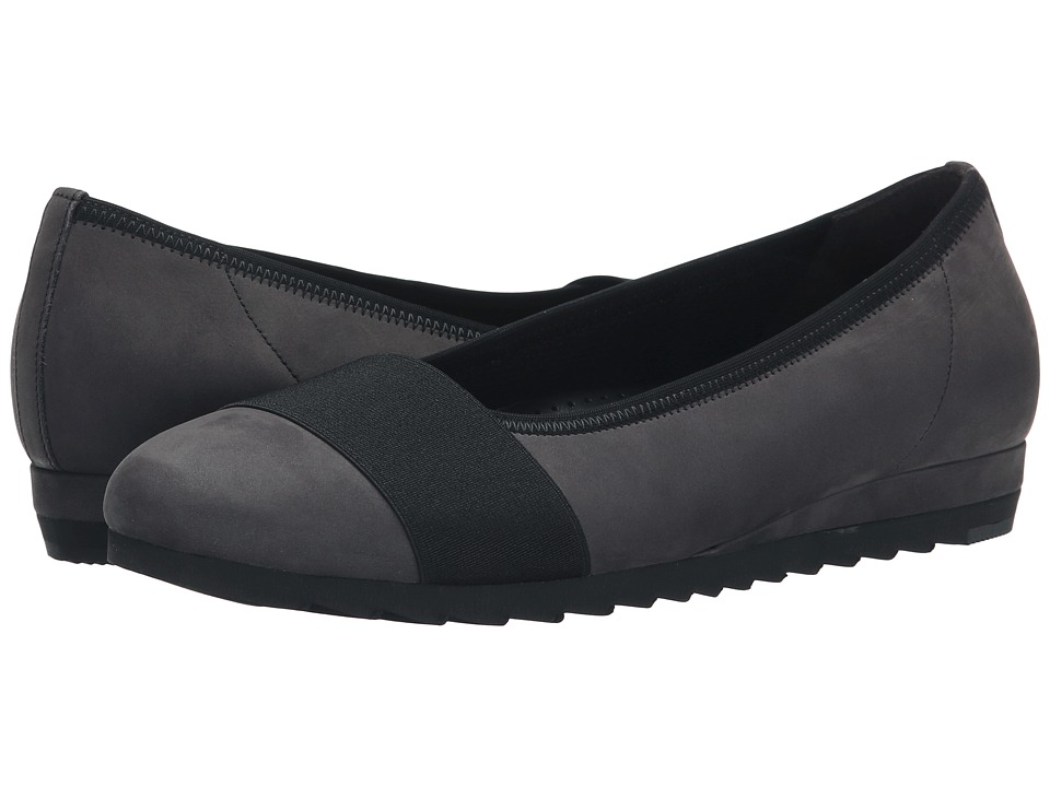 Gabor - Gabor 32.683 (Dark Grey Nubuk Oil) Women's Flat Shoes
