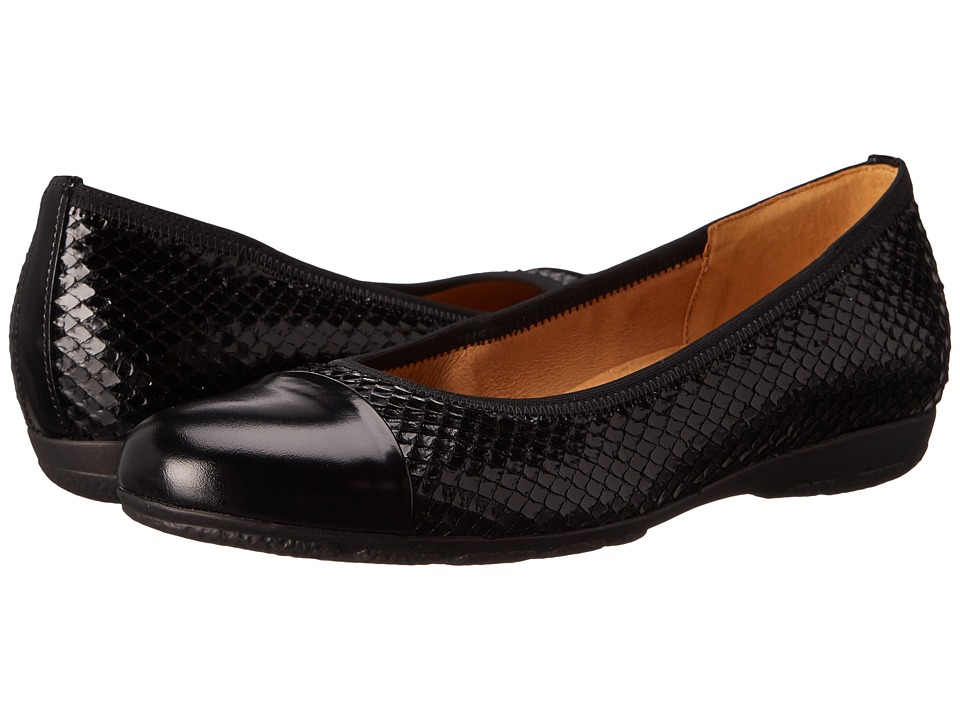 Gabor - Gabor 34.161 (Black Snakino Shine/Luxor) Women's Slip on Shoes