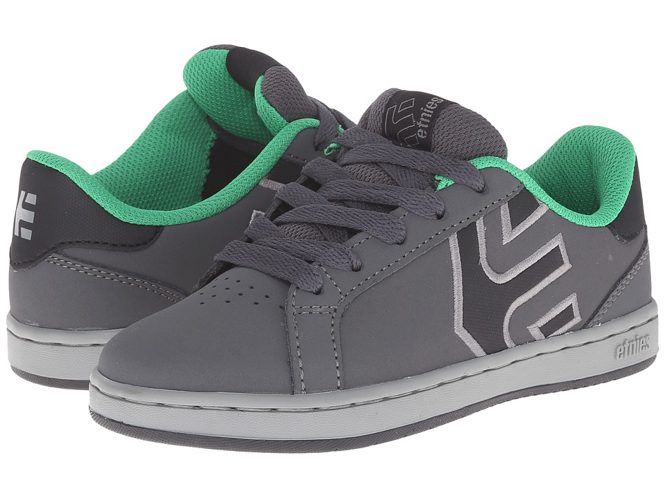 etnies Kids - Fader LS (Toddler/Little Kid/Big Kid) (Grey/Green) Boys Shoes