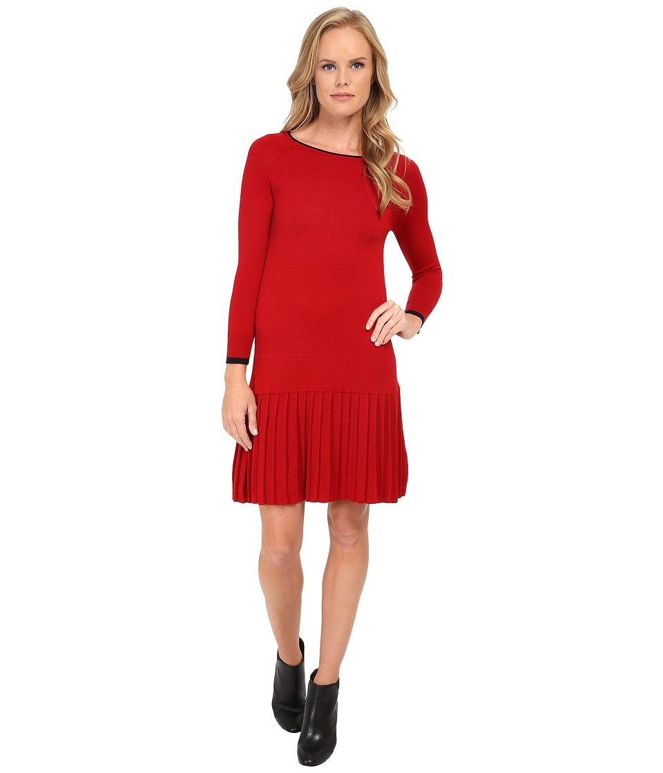 Shoshanna Lisette Sweater Dress (Merlot) Women