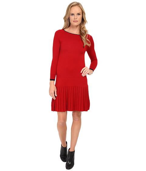 Shoshanna - Lisette Sweater Dress (Merlot) Women's Dress