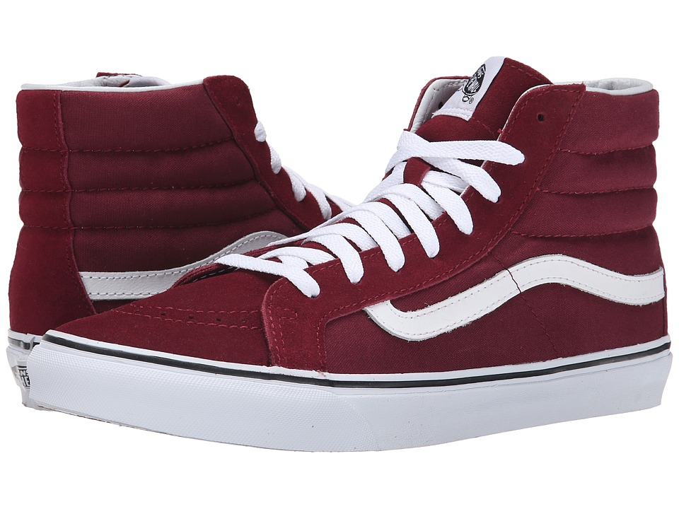 Vans - SK8-Hi Slim (Windor Wine) Skate Shoes