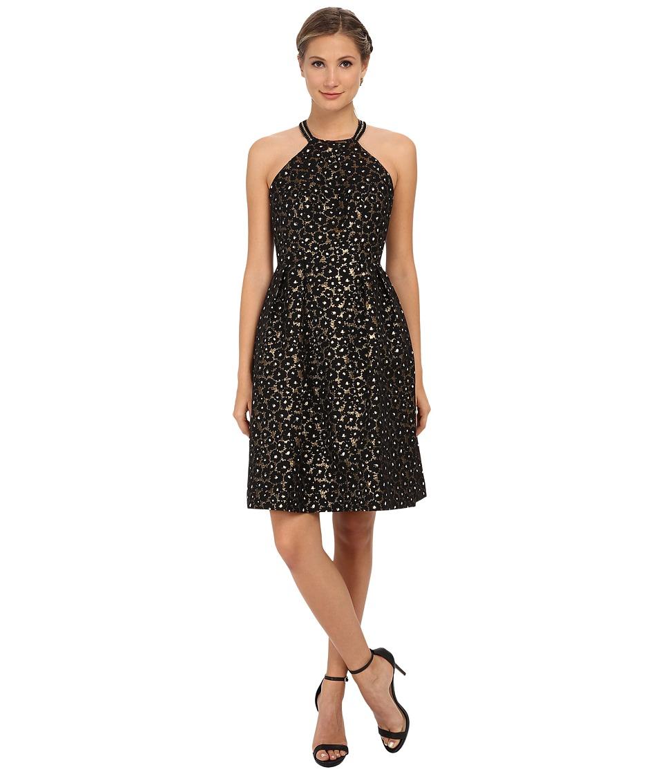Shoshanna - Greta Dress (Jet/Gold) Women's Dress