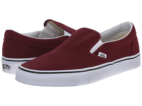 Vans - Classic Slip-On (Windsor Wine) Skate Shoes