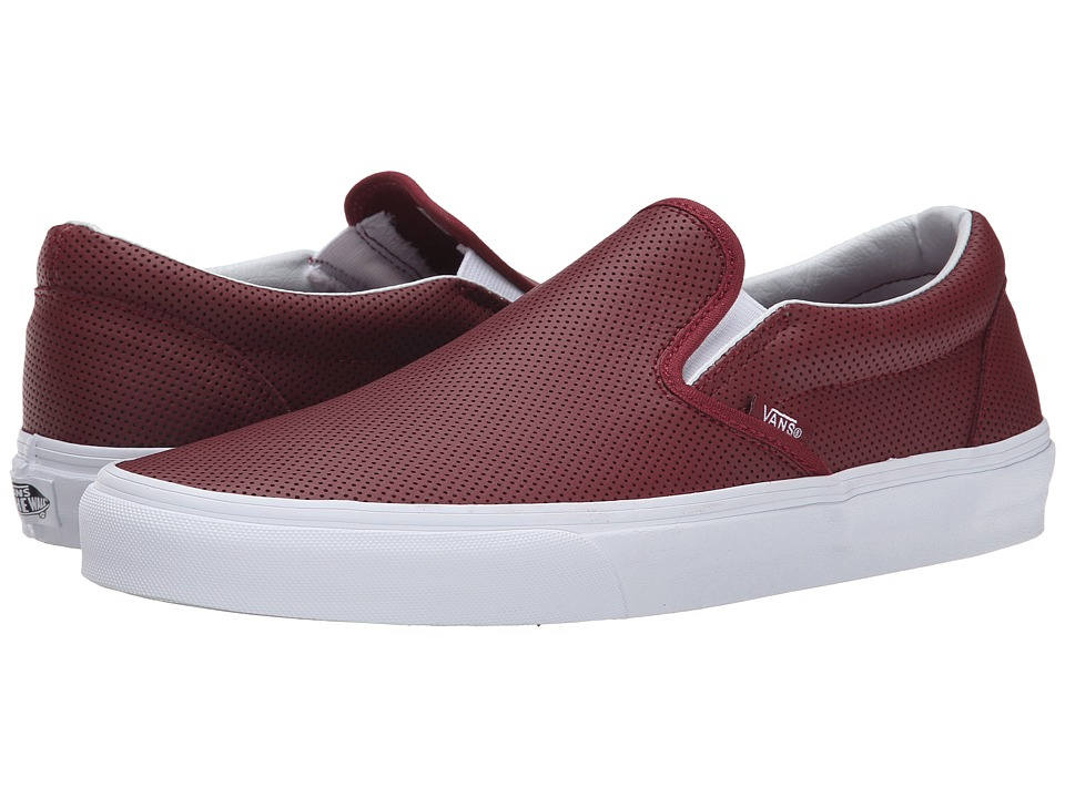 Vans - Classic Slip-On ((Perf Leather) Port) Skate Shoes