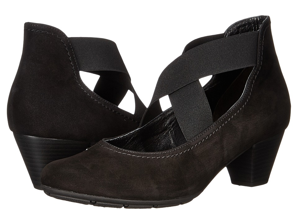 Gabor - Gabor 35.421 (Black Nubuk Oil) Women's 1-2 inch heel Shoes