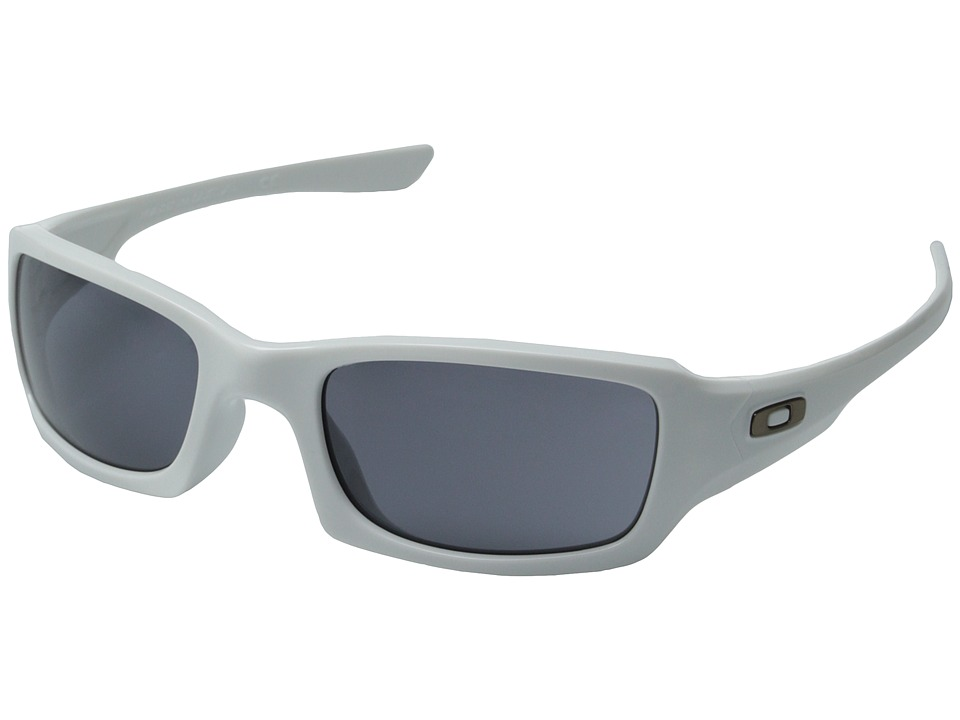 Oakley - Fives Squared Polarized (Asian Fit) (White/Grey) Sport Sunglasses