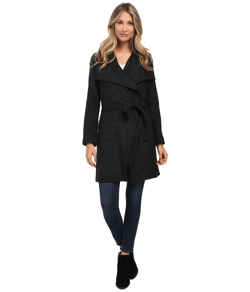 NYDJ - Wrap Coat (Black/Charcoal Grey) Women's Coat