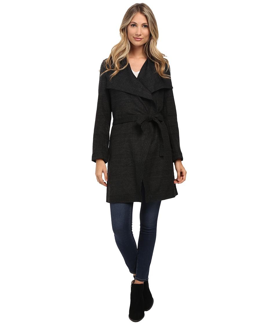 NYDJ - Wrap Coat (Black/Charcoal Grey) Women's Coat