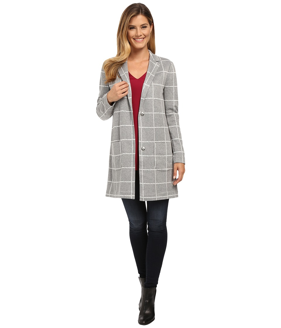 NYDJ - Window Pane Topper (Vanilla/Heather) Women's Coat