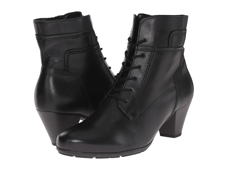 Gabor - Gabor 35.644 (Black Foulardcalf) Women's Lace-up Boots
