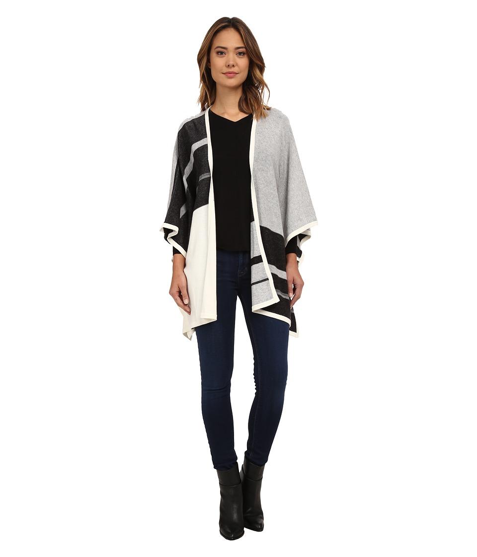 NYDJ - Color Block Blanket Sweater (Heather Black) Women's Sweater