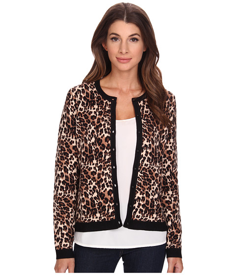 NYDJ - Jacquard Cardigan (Vicuna Animal) Women