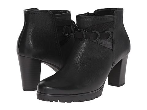 Gabor - Gabor 35.774 (Black Bombi Ranch Nappa) Women's Zip Boots