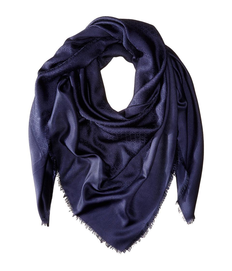 Salvatore Ferragamo - SL Gan New (F. Oxford Blue) Scarves