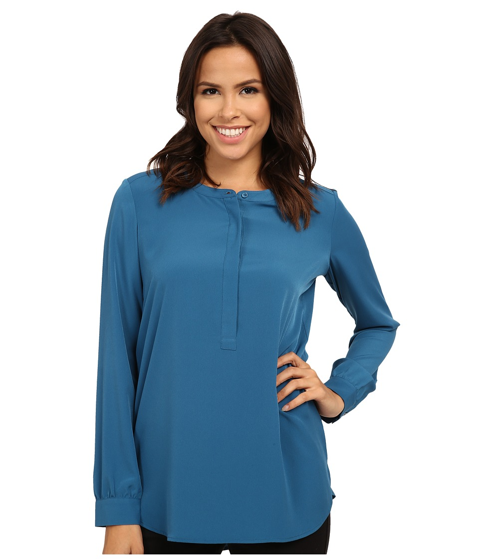 NYDJ - Woven Tunic (Studio Teal) Women's Blouse