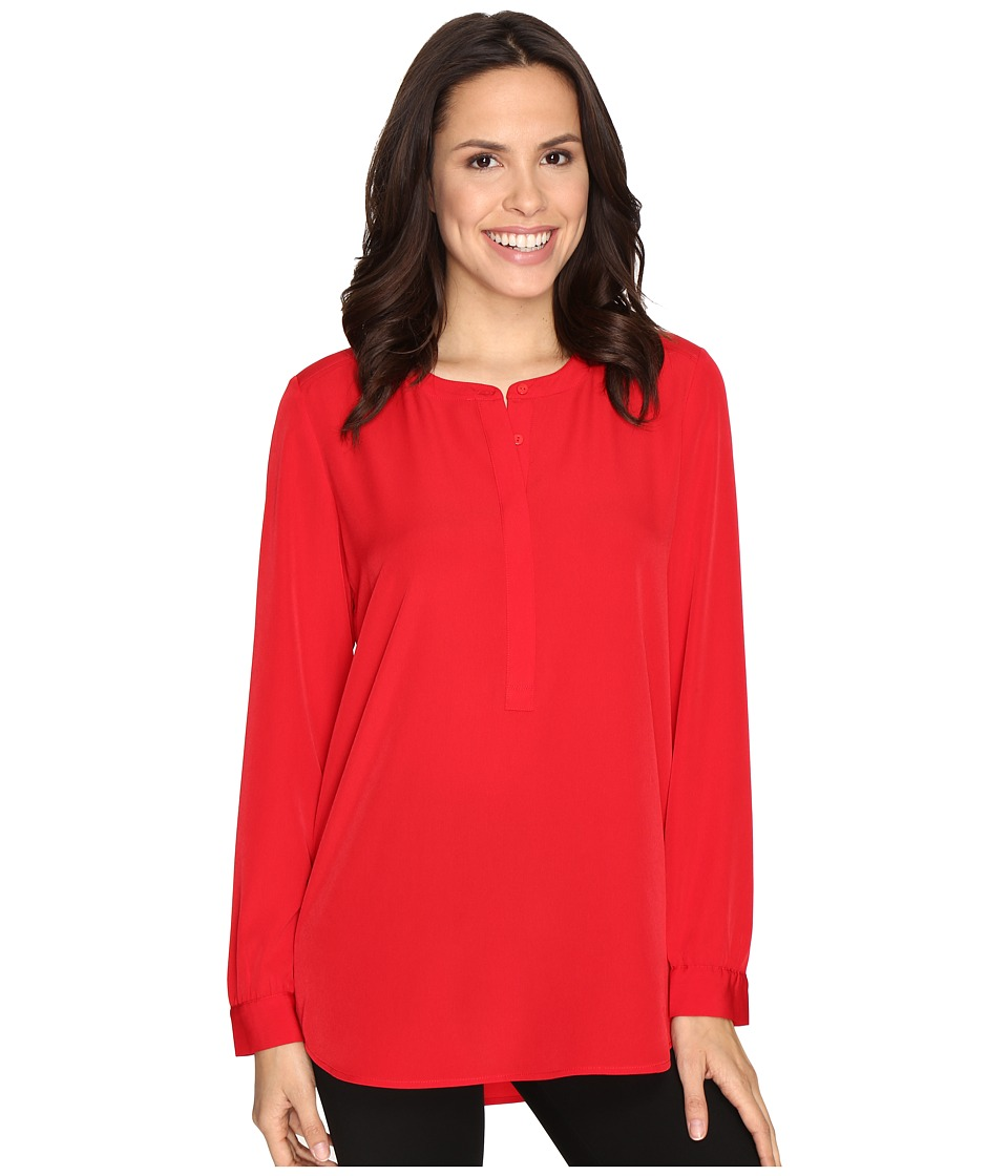 NYDJ - Woven Tunic (Cardinal Red) Women's Blouse