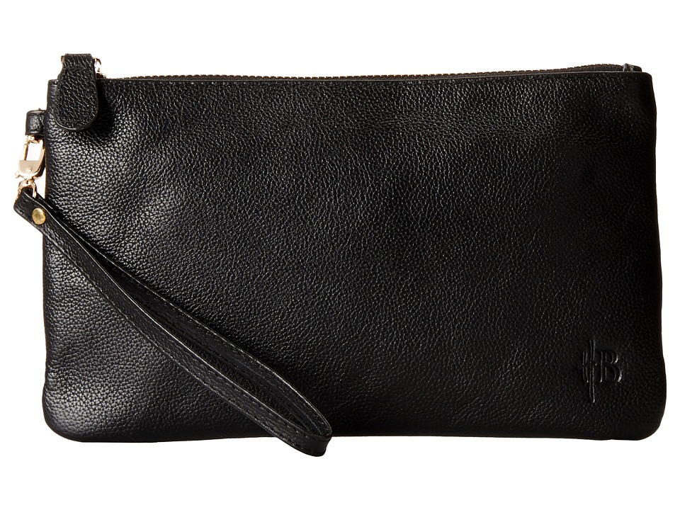 Mighty Purse - Cow Leather Charging Wristlet (Matte Black) Handbags